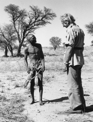 Laurens Van der Post with bushman.