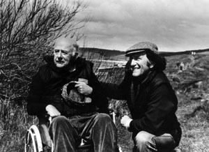 Author with John Betjeman on Greenaway in Cornwall.
